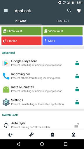 Advanced Protection ☞ AppLock 1.7 screenshots 6