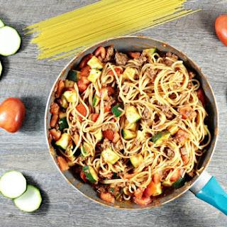 Spaghetti with Zucchini & Tomatoes
