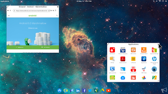 Leena Desktop UI (Multiwindow) Screenshot