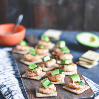 Cajun Shrimp and Avocado Bites with TRISCUIT.