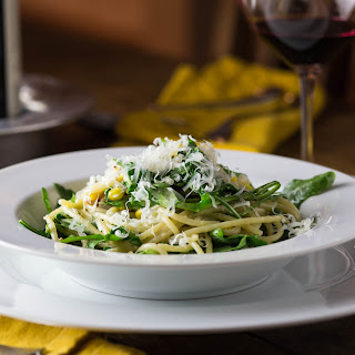 Arugula Carbonara with Sweet Corn
