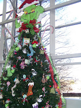 Photo: The Grinch Tree (Note The Neat Lightbulb Ornaments)