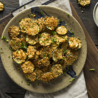 Breaded & Baked Zucchini Chips.