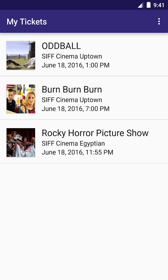 SIFF Mobile Tickets- screenshot