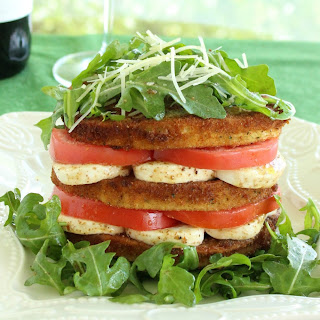 Eggplant, Tomato and Mozzarella Stack