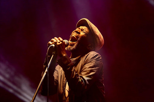 Ray Phiri performing at the Zakifo Music Festival in Durban on Friday night. Pic : Thuli Dlamini. © Sowetan.