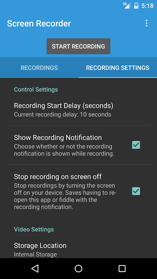 Lollipop Screen Recorder- screenshot