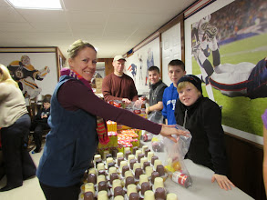 Photo: Packing kare kits with the Mazzaferro & Vallee Family,