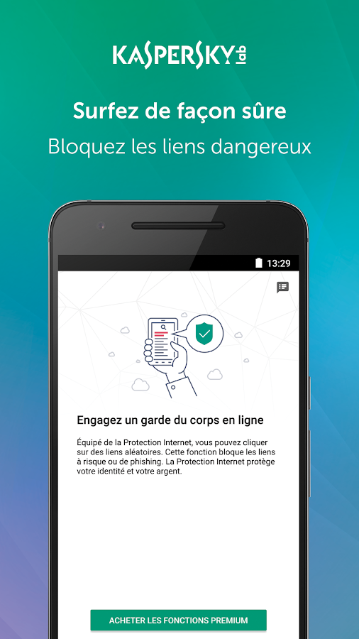 Kaspersky Mobile Antivirus: Web Security & AppLock – Capture d'écran