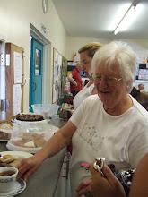 Photo: Anne Platt busy serving teas