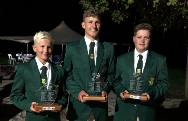 Thirteen anglers from across the country competed against Zimbabwe at the Junior Bass Angling tournament held at the Darwendale Dam last week. Pictured from left are Port Elizabeth anglers Luke Zahn, Liam Taljaard and Cullum Rea