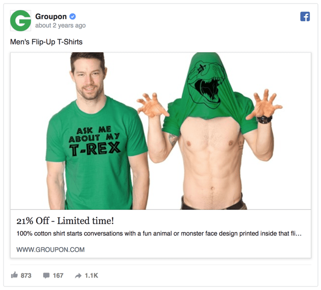 Best Facebook Ad Examples - Groupon