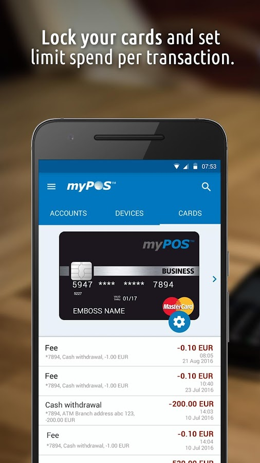 myPOS™- screenshot