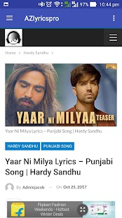 AZLyrics Pro: Hindi and English Songs Lyrics - náhled