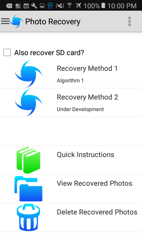 The Recovery App- screenshot