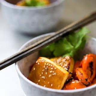 Honey Miso Carrot Tofu Bowl.