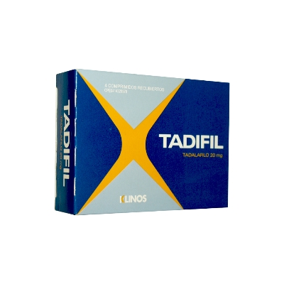 Tadalafilo Tadifil 20 mg x 4 Comprimidos