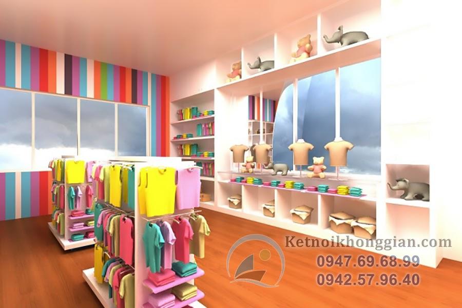 thiết kế shop thời trang trẻ em đẹp