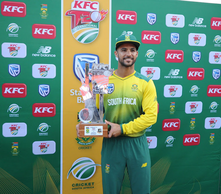 JP Duminy of South Africa during the KFC T20 cricket match between South Africa and Bangladesh on 29 October 2017 at Senwes Park.