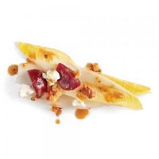 Endive Salad with Beets, Goat Cheese, and Walnuts