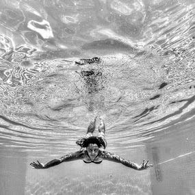 Water & Girl by Rico Besserdich - People Fine Art ( model, girl, pool, underwater, underwater photography, rico besserdich )