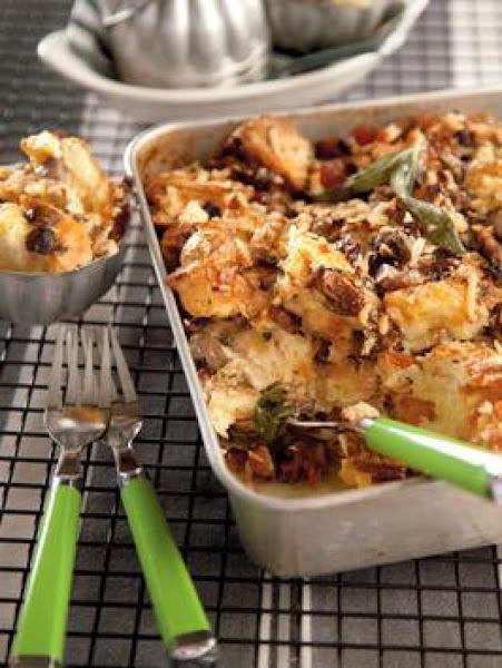 Mushroom  And Bacon Custard Casserole Recipe