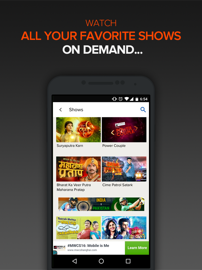 SonyLIV– LIVE Sports TV Movies- screenshot
