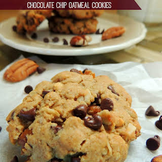 Feel Good Peanut Butter Chocolate Chip Oatmeal Cookies.