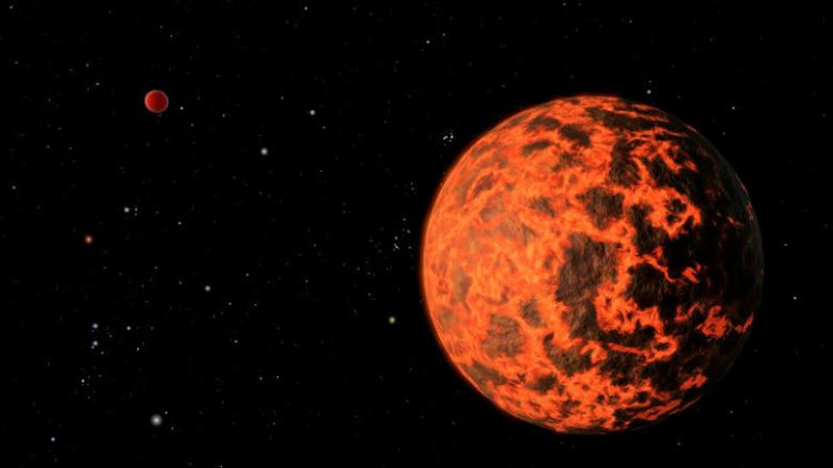 An alien world just two-thirds the size of Earth - one of the smallest on record - detected by NASA's Spitzer Space Telescope. Picture: NASA via REUTERS