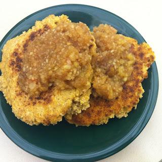 Apple Sauce Cornmeal Pancakes.