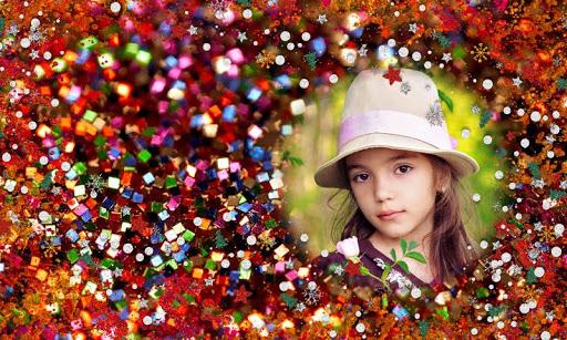 Glitter photo frame effects