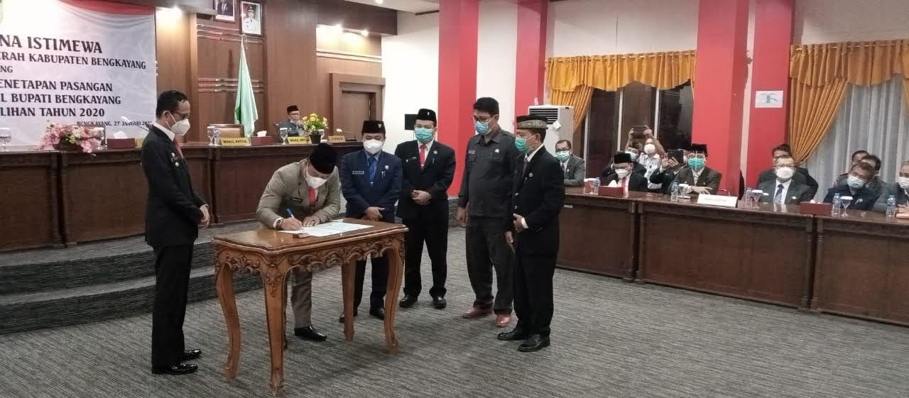 DPRD Bengkayang Mengumumkan Penetapan Bupati dan Wakil Bupati Terpilih