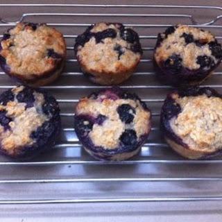 No Flour, No Sugar Blueberry Oatmeal Muffins.