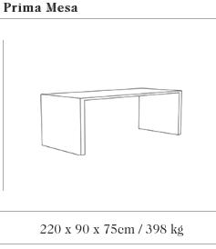 Technische tekening van de Prima picknick tafel uit de collectie van Escofet 1886
