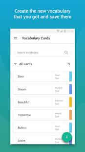 VoCard - Vocabulary Card - náhled