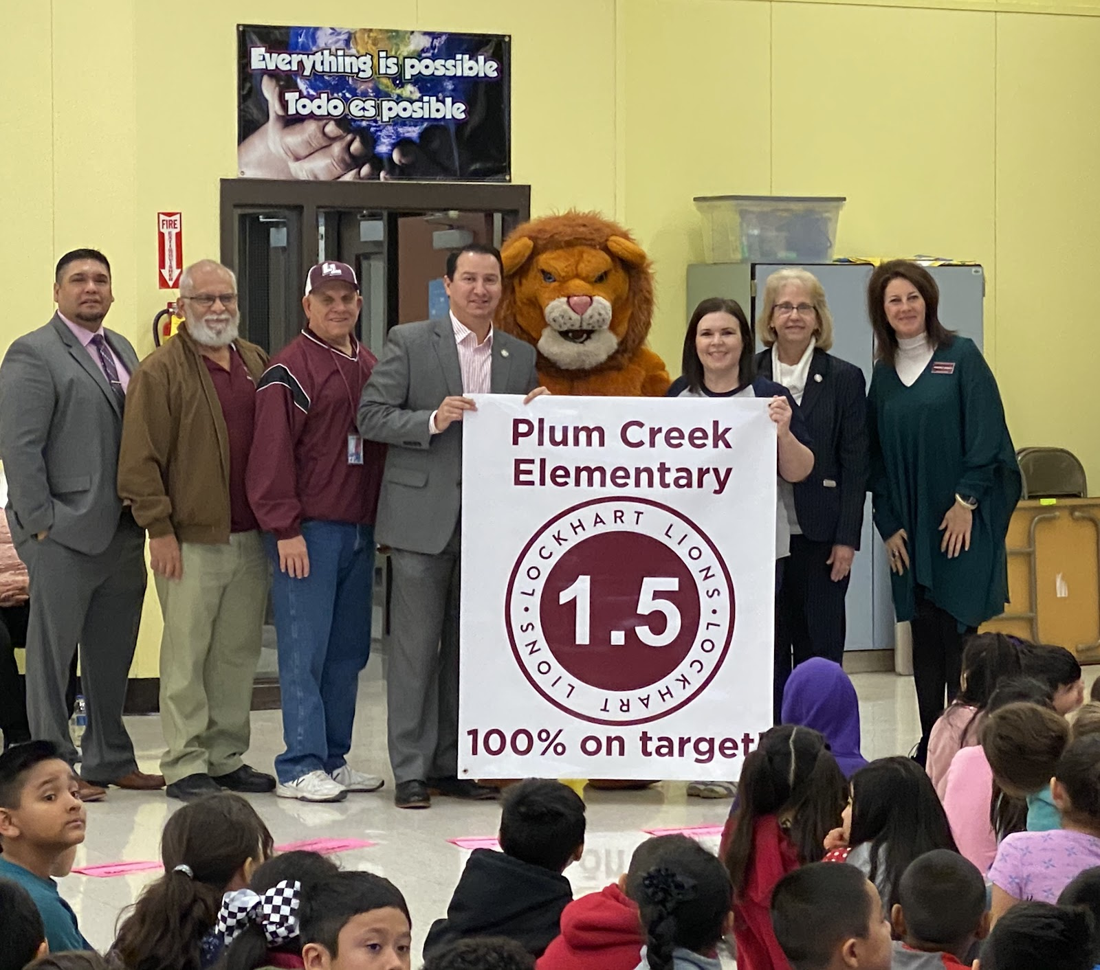 Plum Creek honored for reaching 100% target for 1.5