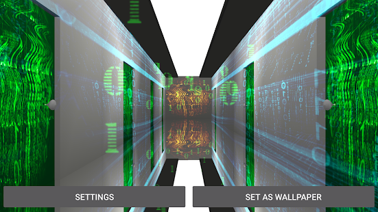 3D Matrix Corridor Live WP Screenshot