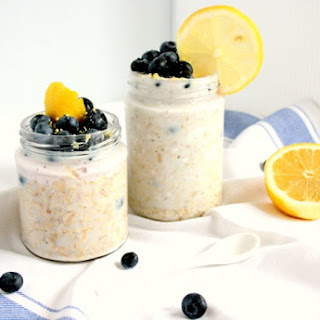 Blueberry Lemon Cheesecake Overnight Oats.