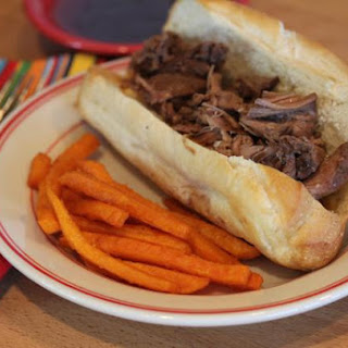 Slow Cooked Roast Beef Sandwiches with Easy Au Jus.