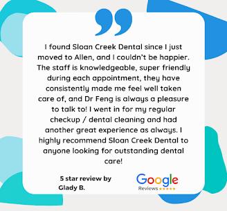 5 Star google review - Dentist