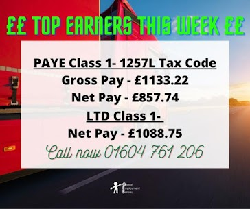 Class 1 HGV drivers top earner in May 2021