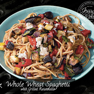 Whole Wheat Spaghetti with Grilled Ratatouille