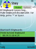 Stowaway keyboard driver - tastatur fundet, telefon forsøger at etablere forbindelse - mobilmag.dk