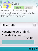 Stowaway keyboard driver - indtast kode for sikker forbindelse - mobilmag.dk