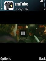 """Dark Knight"" trailer shown using emTube - gersbo.dk"