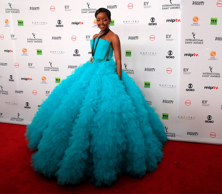 File photo of actor Thuso Mbedu arriving for the International Emmy Awards in Manhattan, New York, U.S., November 20, 2017.