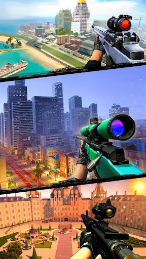 Télécharger Gratuit City Sniper Gun Shooter : Elite 3D Shooting Games APK MOD (Astuce) screenshots 2
