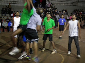Photo: Fast and furious action on the basketball court