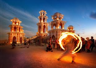 Photo: Firedancing at the Temple  For the full Burning Man set, see https://picasaweb.google.com/105237212888595777019/BurningManTreyRatcliff  -- from Trey Ratcliff at http://www.StuckInCustoms.com