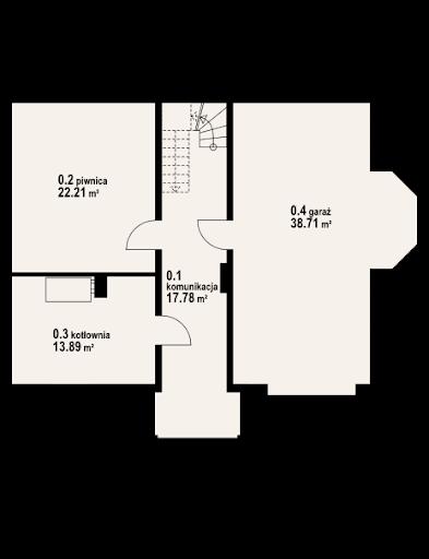 Jaworki 15 - Rzut piwnicy